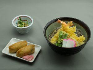 道後GC レストランメニュー 天ぷらそば定食